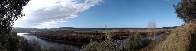 Vista panorâmica do Tejo em Ortiga-Mação