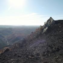 Depois do fogo a paisagem está desoladora.