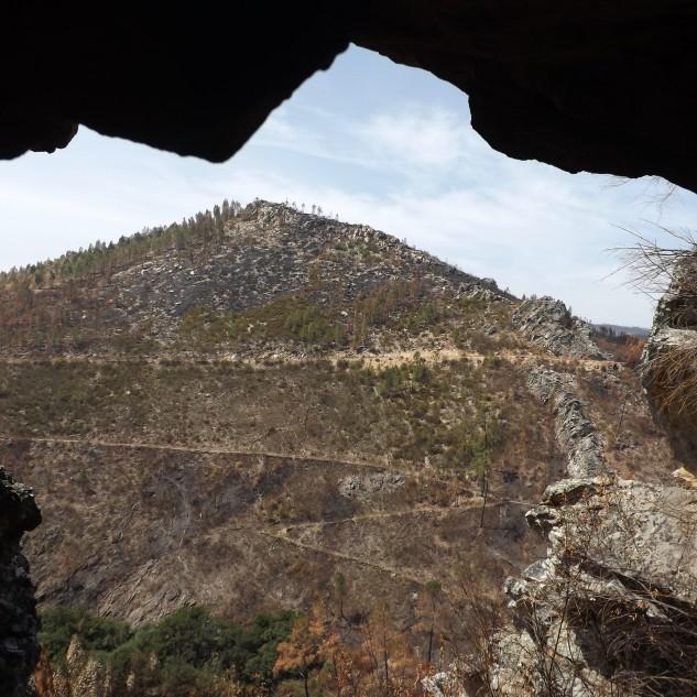 A imensa vista para o vale... Um bom poiso para detectar a caça...