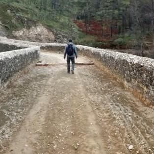 """Percorro a ponte com a sensação de renovação, sempre conheci esta ponte """"velha"""" como o nome que ela carrega."""