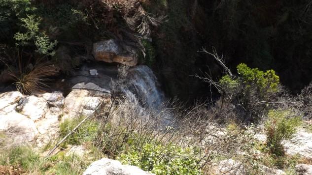 E ali está a cascata de que falei acima.