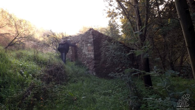 O meu amigo Gonçalo Lobato é o primeiro a chegar ao moinho fundeiro.