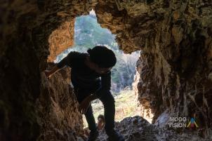 Já dentro da caverna.