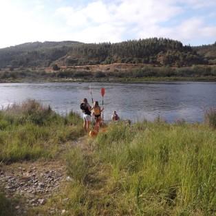 A entrada no rio foi feita junto à aldeia dos pescadores na Ortiga.