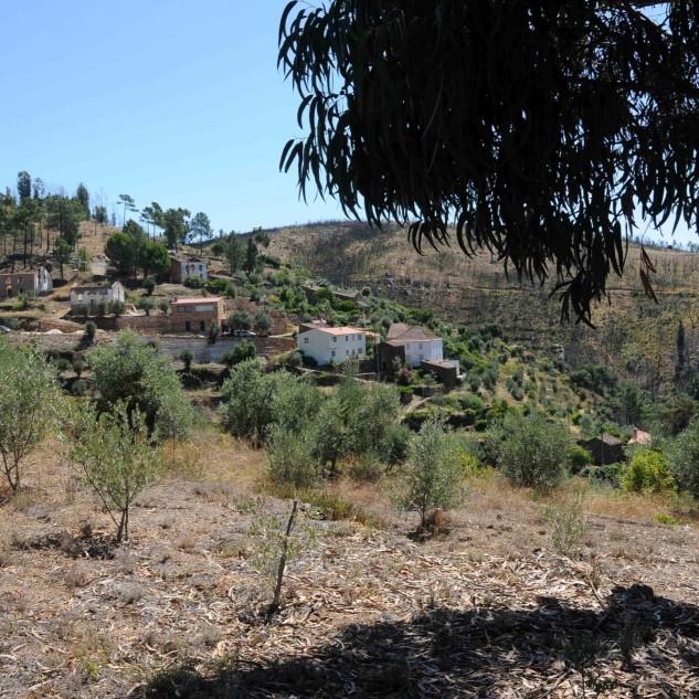No outro lado do vale o local onde estivemos em conversa com a Dona Manuela.